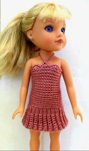 Crochet Doll Summer Dress