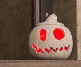 Concrete Jack-O'-Lantern