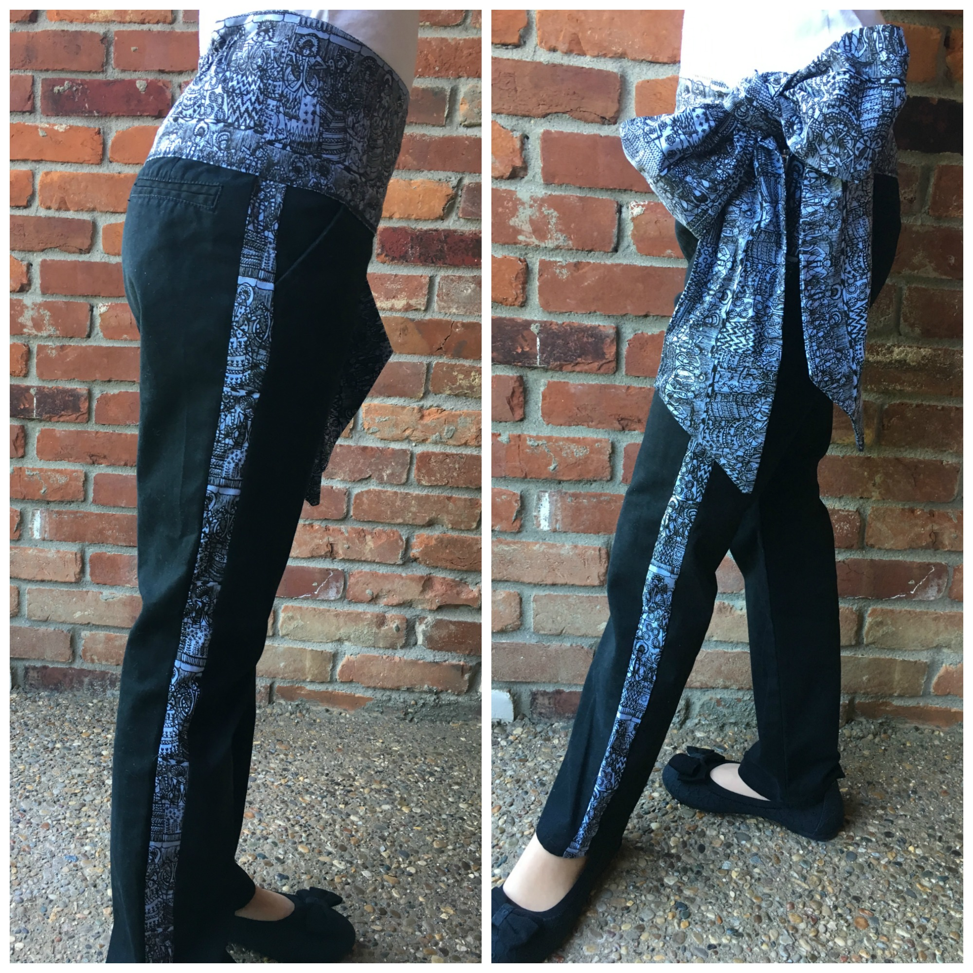 Picture of Make Pants Bigger & Upcycle to Tuxedo Bow Pants