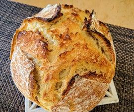 Super Easy No-knead Sourdough Bread