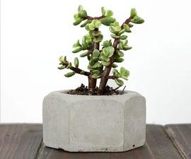 Making GIANT Concrete Hex Nut Succulent Planters