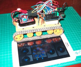 Tracked Robot Bluetooth Controlled by Arduino Via Android Application