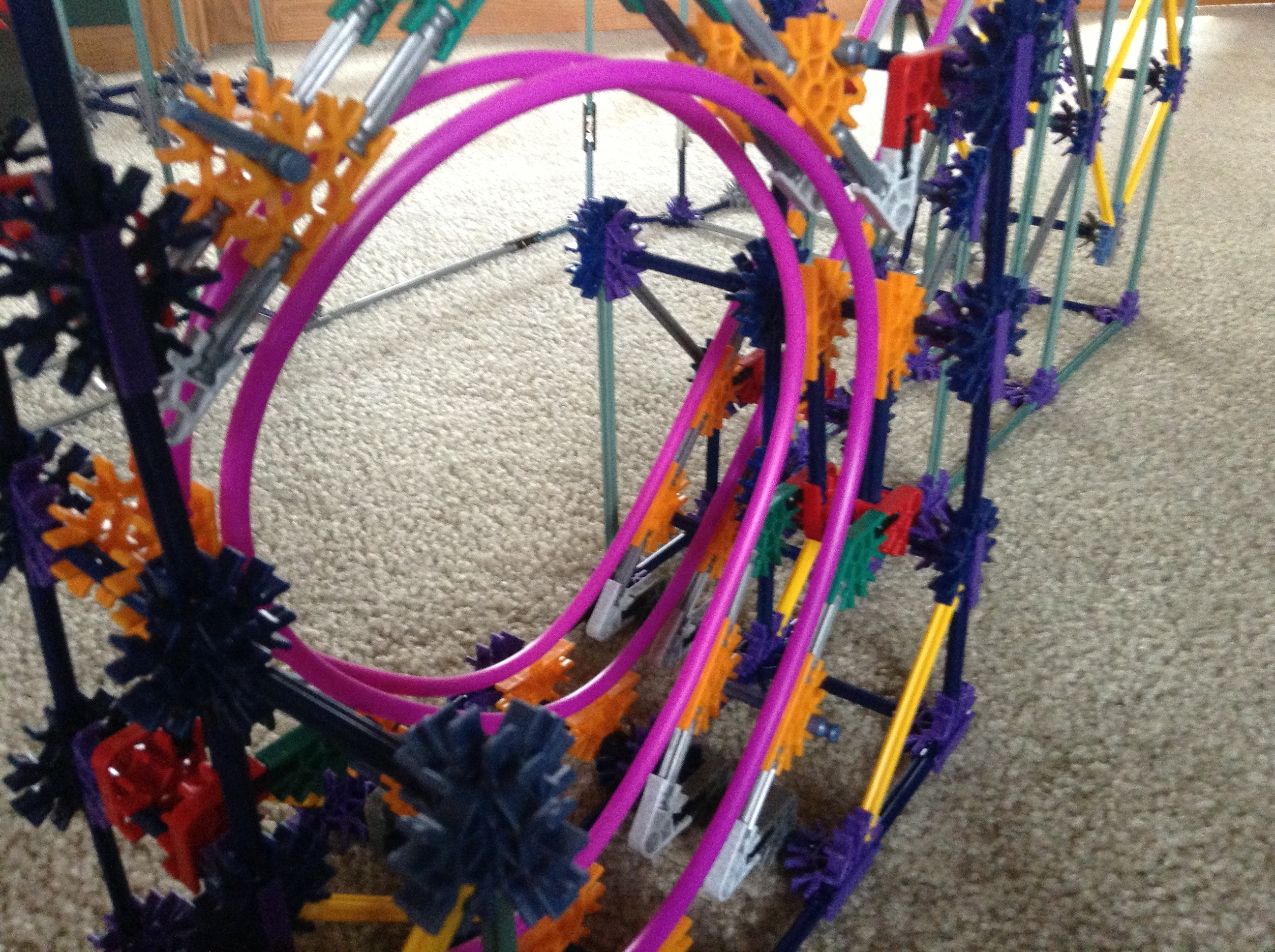 Picture of Knex Ball Coaster - Looper