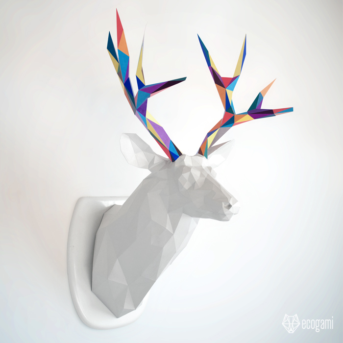 Picture of DIY Papercraft - Deer PDF Template