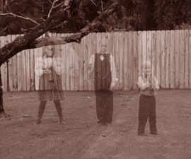 Ghosts in the Graveyard!  Halloween Photo Shoot!