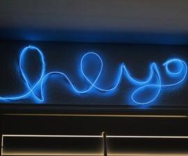 """El Wire """"Neon"""" Sign"""