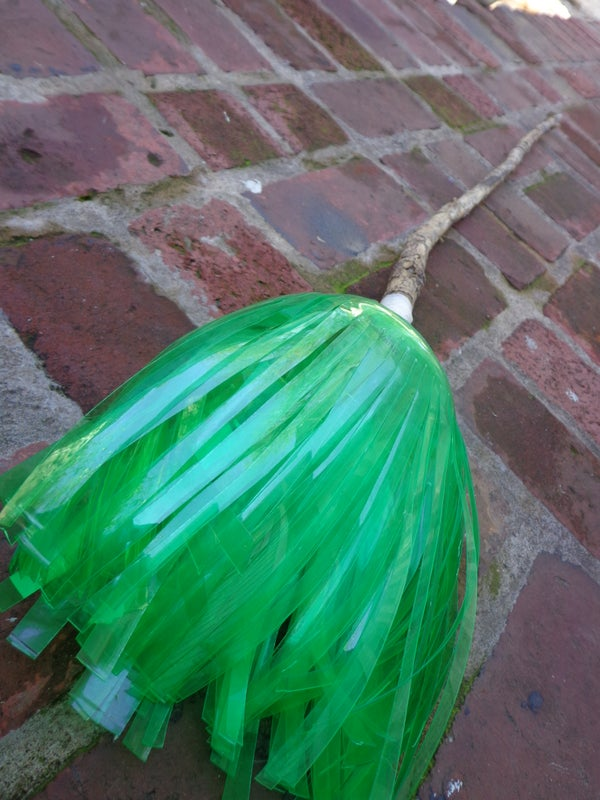 Recycled Mtn Dew Witch Broom