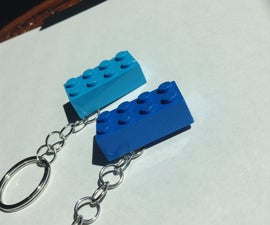 Small and Simple Lego Keychain. No Drill Needed!!