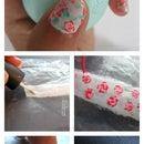 DIY Vintage Floral Nail Stickers