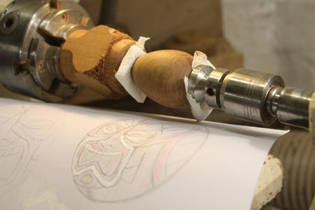 Use Your Sketch to Work Out Where You Want Your Tiki Carving to Go