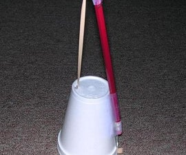 Miniature Washtub Bass Made From Office Supplies!