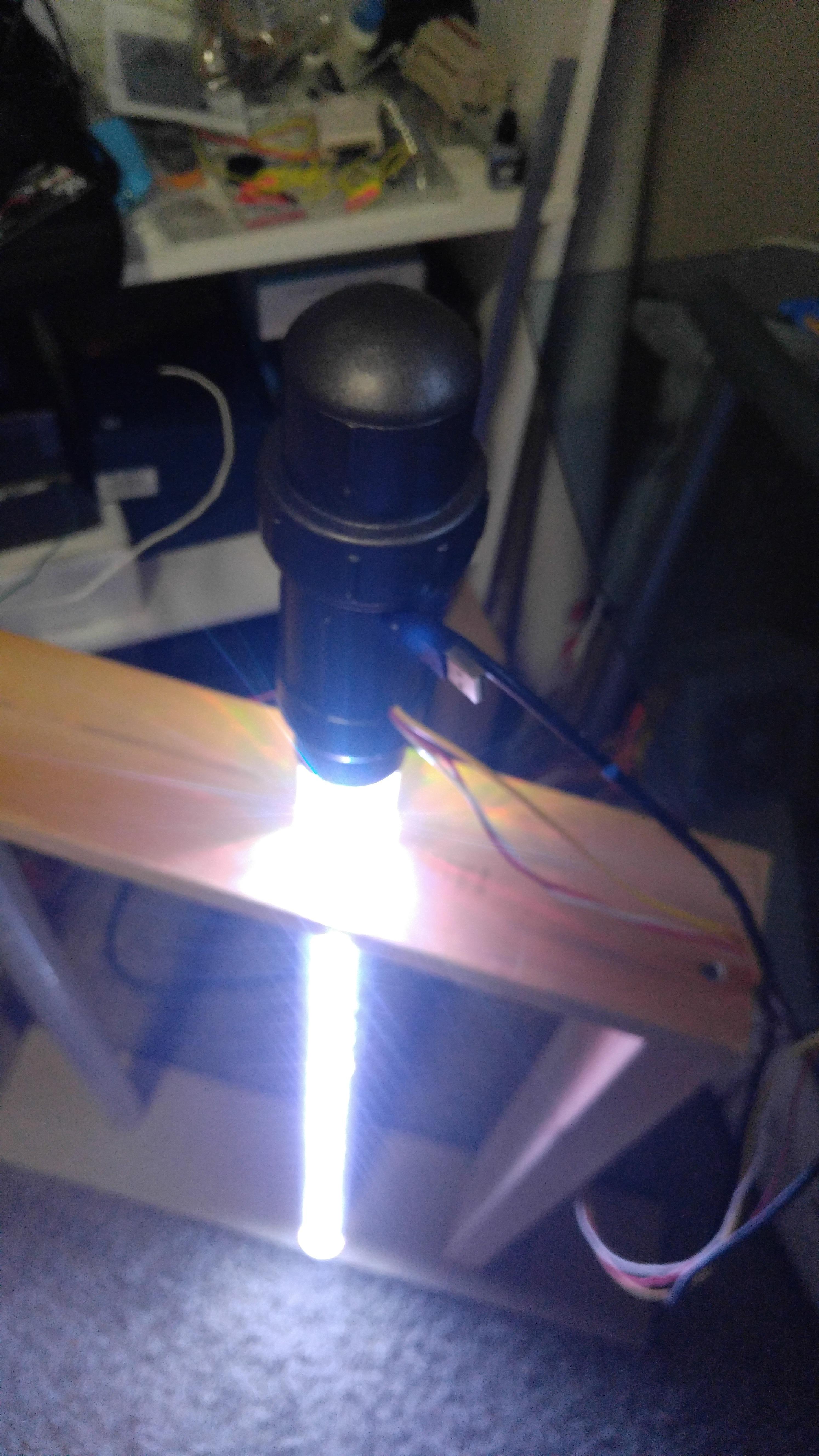 Picture of Hilt + Saber = Lightsaber = Lighthemin