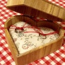 Wooden Ring Box With Pillow, That Doubles As A Pincushion :)