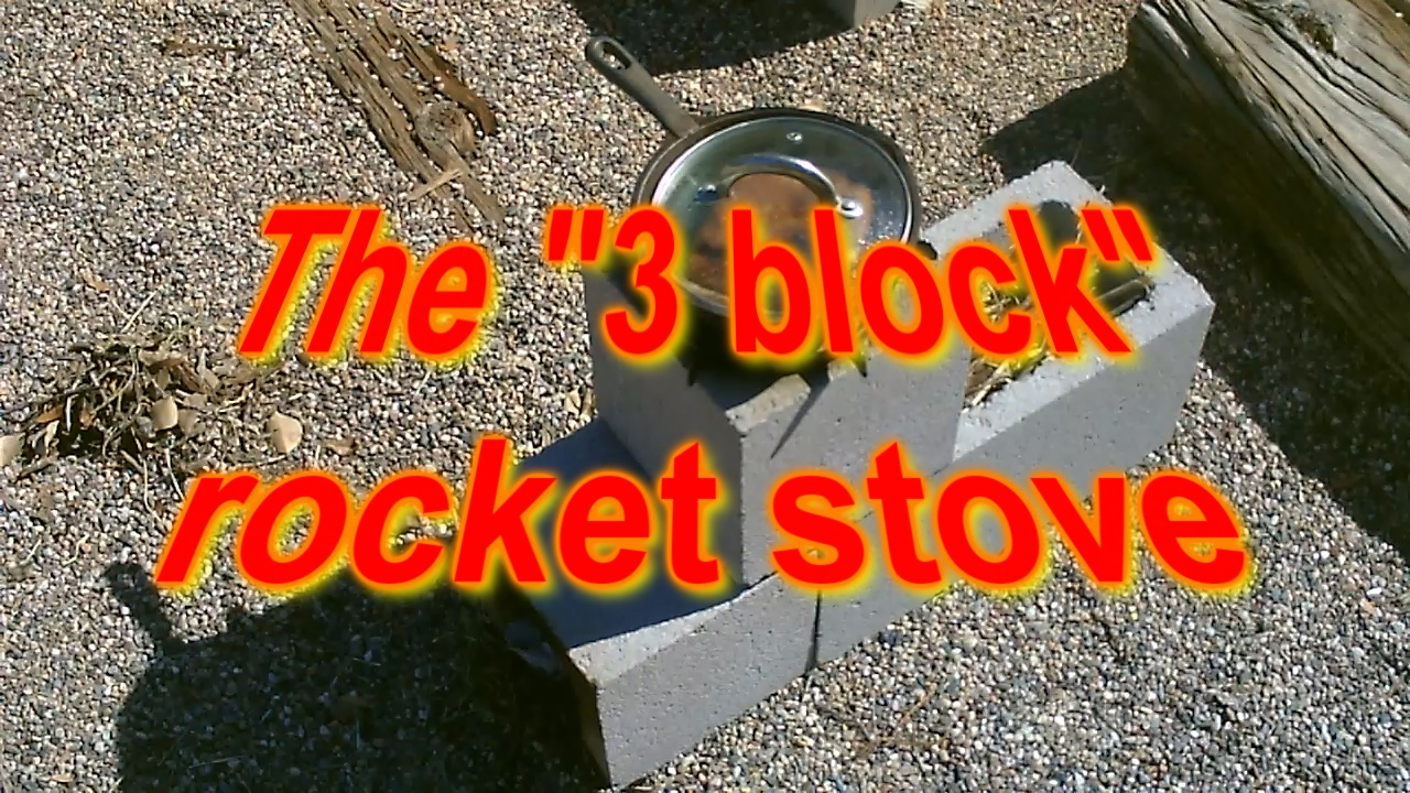 Picture of The (3 Block) Rocket Stove! - Concrete Rocket Stove - (and Smoker Too!) - Super Easy DIY