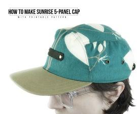 How to Make Sunrise 5-Panel Cap