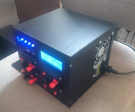 Bench PSU Power Supply From Old ATX With Arduino and LCD Monitor
