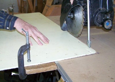 Truing a Panel Edge With a Radial Arm Saw