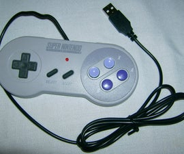 SNES USB controller and flash drive