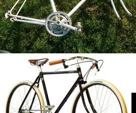 The Gov'not - An attempt to turn an old frame into a copy of a vintage path racer - Pashley Gov'nor-  for 50 pounds.