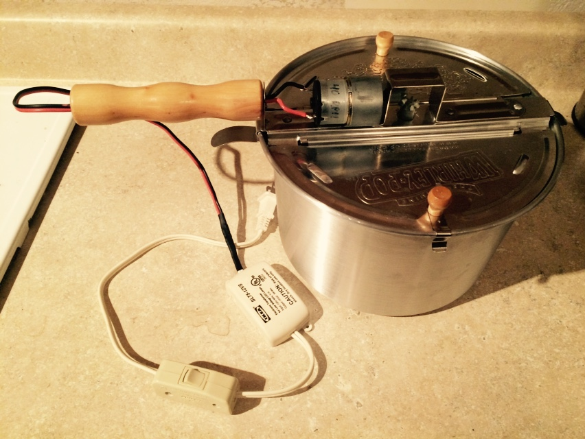 Picture of Motorized Coffee Roaster From Popcorn Maker