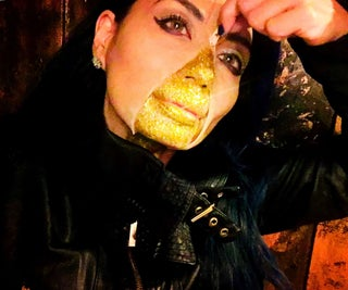 Golden Zipper-Face Costume