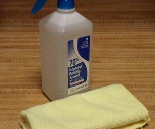 [Lifehack] Rubbing Alcohol + Spray Nozzle = White Board Cleaner, Disinfectant Spray, Etc.