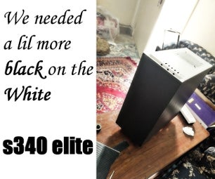 NZXT S340 Elite Carbon Fiber Vinyl Wrapping