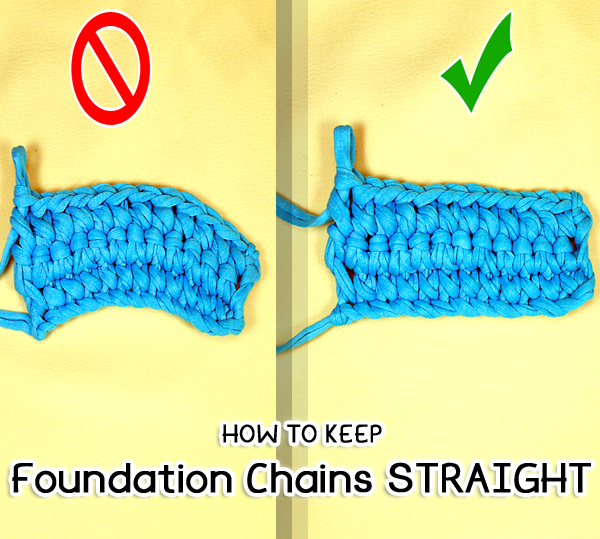 Picture of How to Keep Foundation Chains Straight or Flat