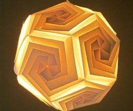 DIY Lampshade Dodecahedron