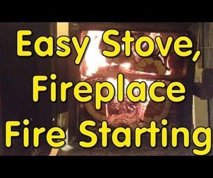 Wood Stove Starting WITHOUT Accelerant!