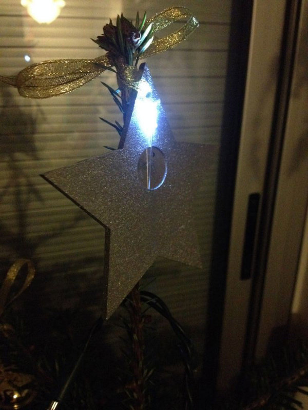 Picture of LED Throwie Christmas Tree Decorations (No Soldering!)