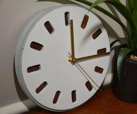 Concrete Clock (3D Printing + Concrete + Wood Veneer)