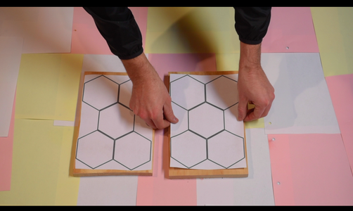 Cutting the Hexagons Out of Plywood