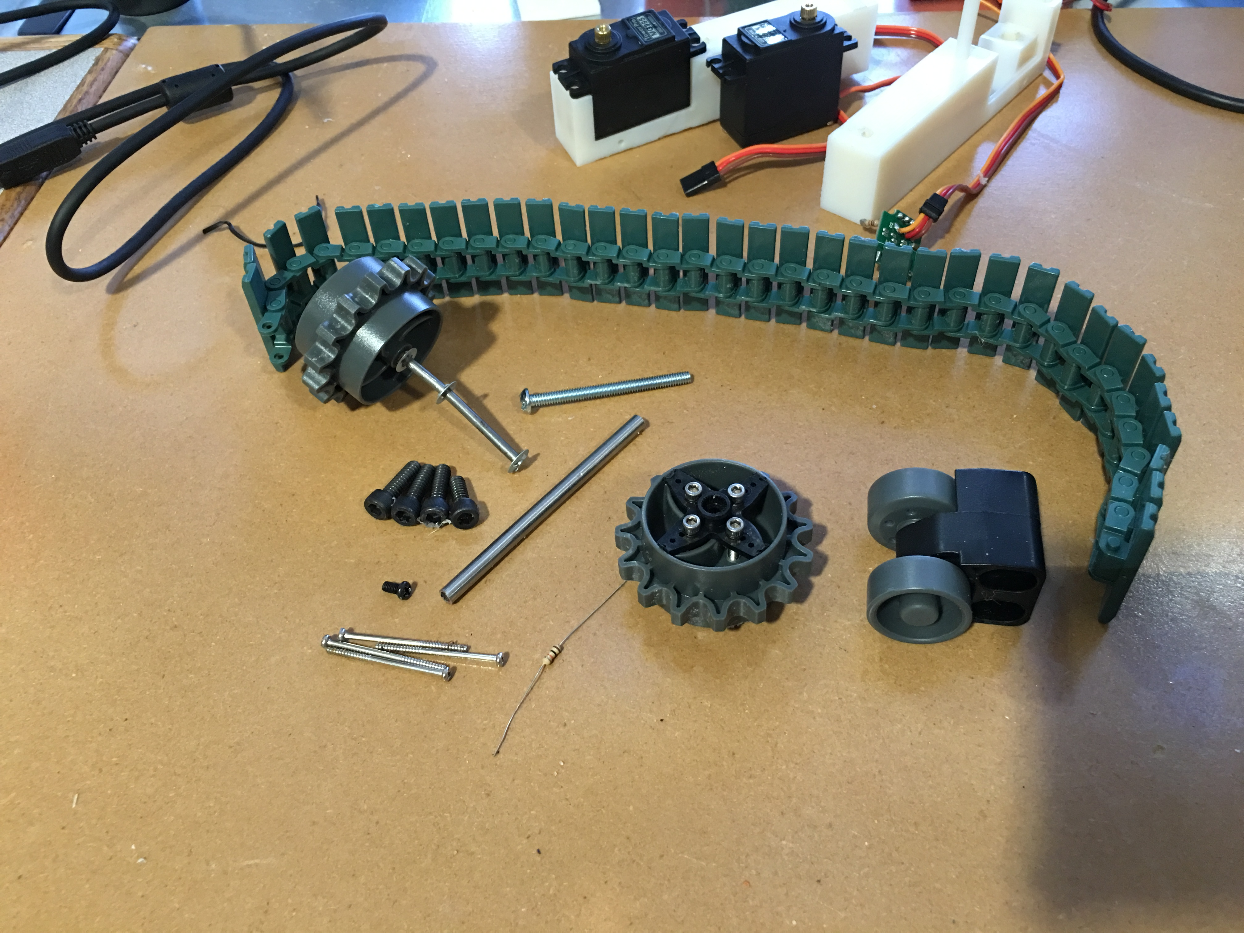 Picture of 3D Printed Custom Vex Tank Tread System
