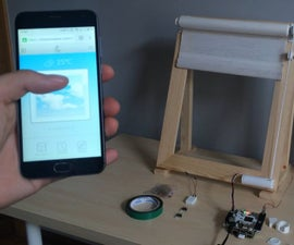 Roller Blind Controlled Via Web Browser With CORE2 and RPi