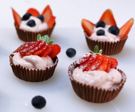Strawberry Cheesecake Mousse Chocolate Cups