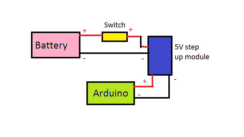 Picture of Connecting Arduino to the Battery