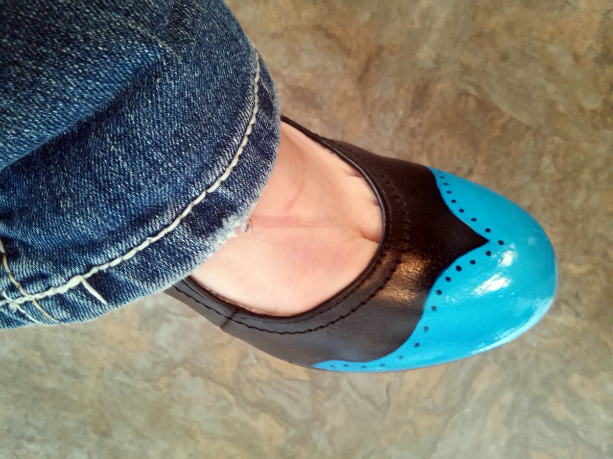 Picture of DIY Painted Wingtip Shoes