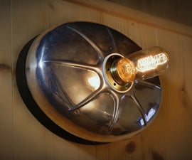 Upcycled Hot Water Bottle in a Wall Lamp