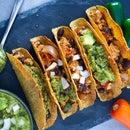 Healthy Vegan Tacos With Salsa Verde