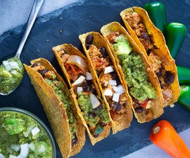 Healthy Vegan Tacos With Salsa Verde
