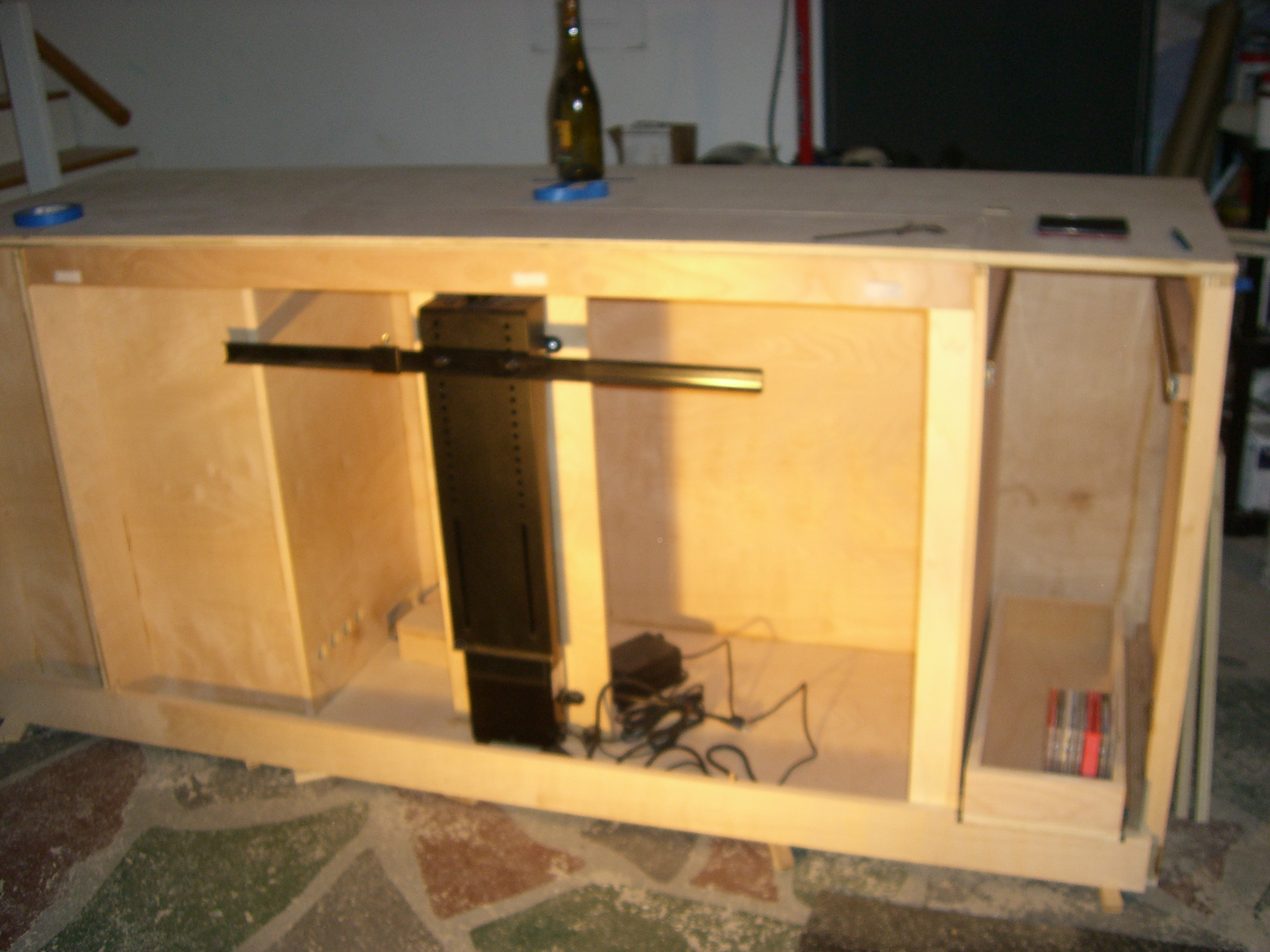 ... Picture Of How To Make A TV Lift Cabinet ...