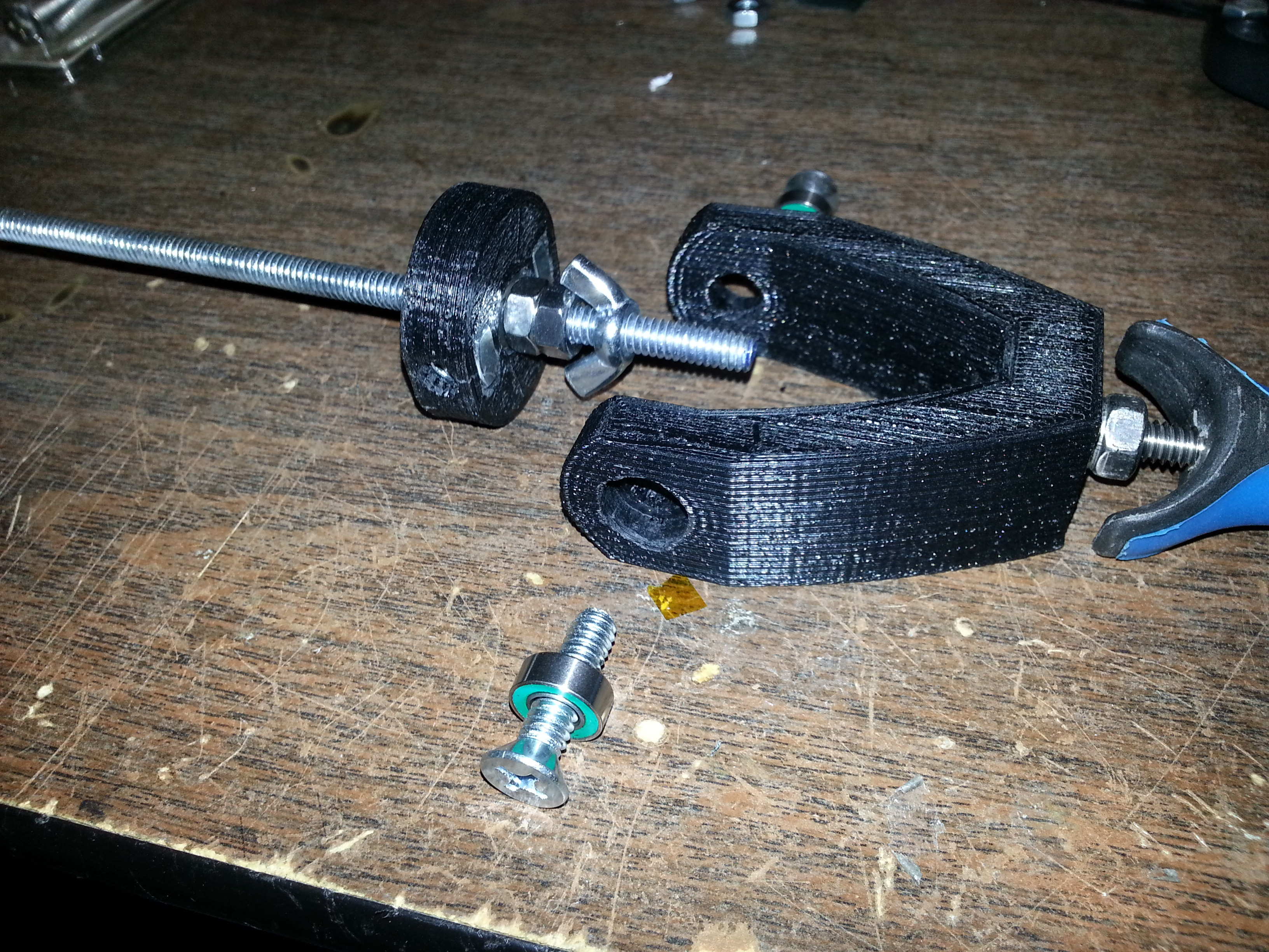 Picture of Assemble the Gimbal and Fork