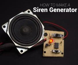 How to Make a Siren Generator | UM3561 | Police, Ambulance, Fire Engine