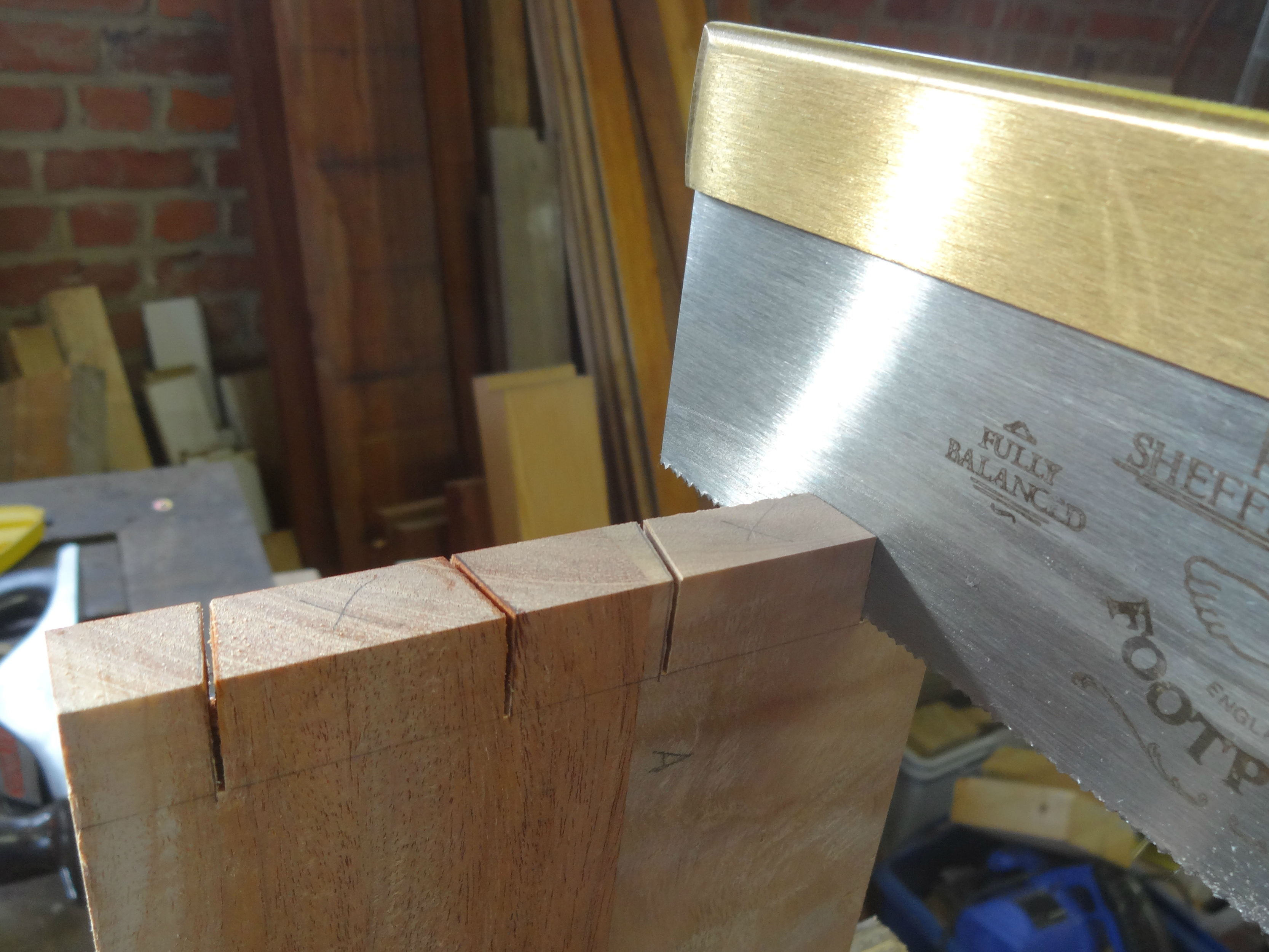 Picture of Joining the Sides With Dovetails