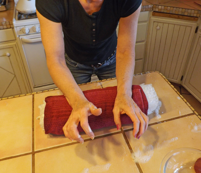 Picture of Felting the Fibers
