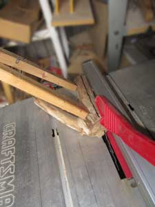 Picture of TIP: Table Saw Rip Cuts on Branches