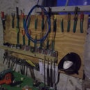 Reduced Reused Recycled Organizational Tool Wall