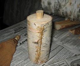 Birch Bark Flask