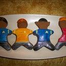 Redshirt Gingerbread Men (inspired by Foxtrot)